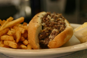 Pearl Street Diner Philly cheesesteak